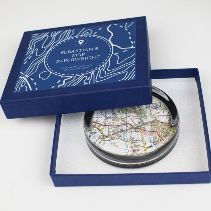 Personalised Map Paperweight product image