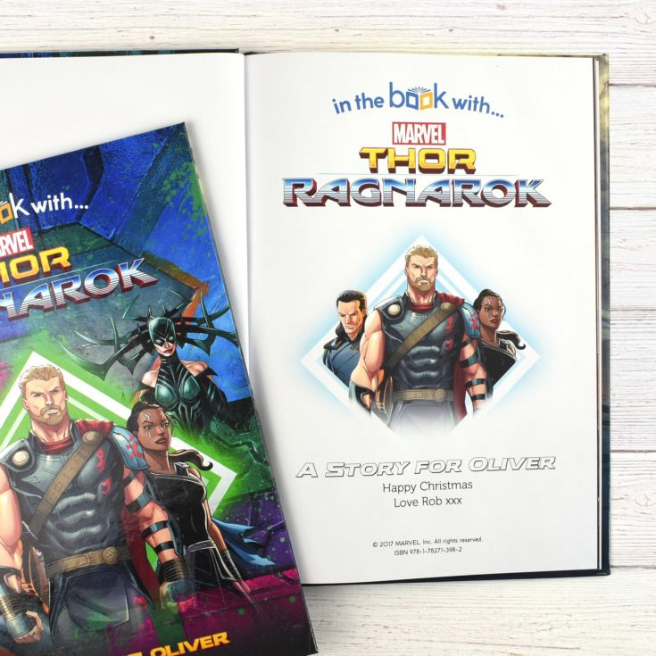Thor Ragnarok Personalised Marvel Story Book product image