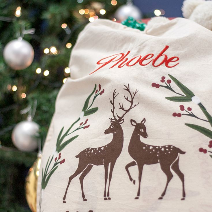 Personalised Merry Christmas Canvas Sack product image