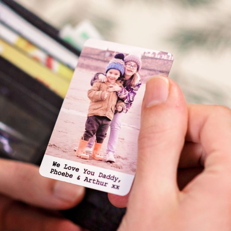 Personalised Metal Wallet Photo Cards product image