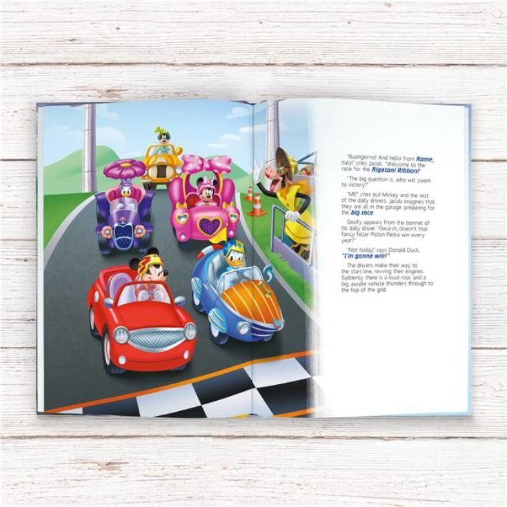 Personalised Disney Mickey and the Roadster Racers Book product image