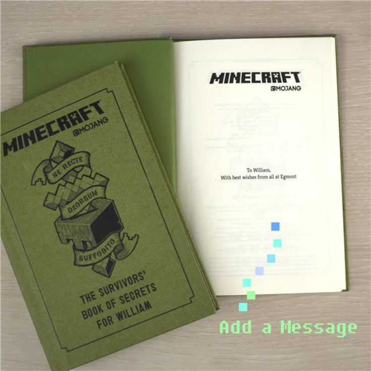 Personalised Minecraft Book: The Survivor's Book of Secrets product image