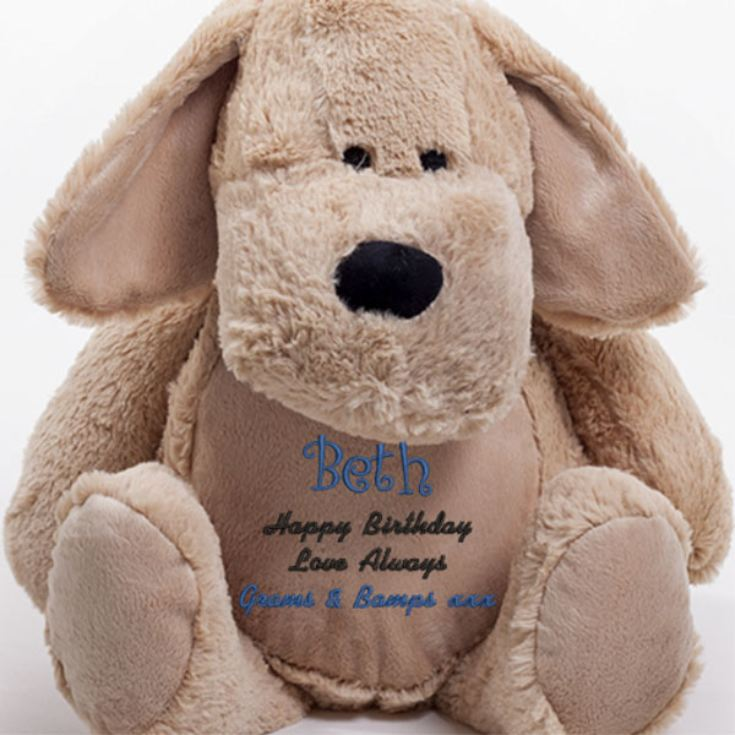 Personalised Embroidered Cuddly Dog product image