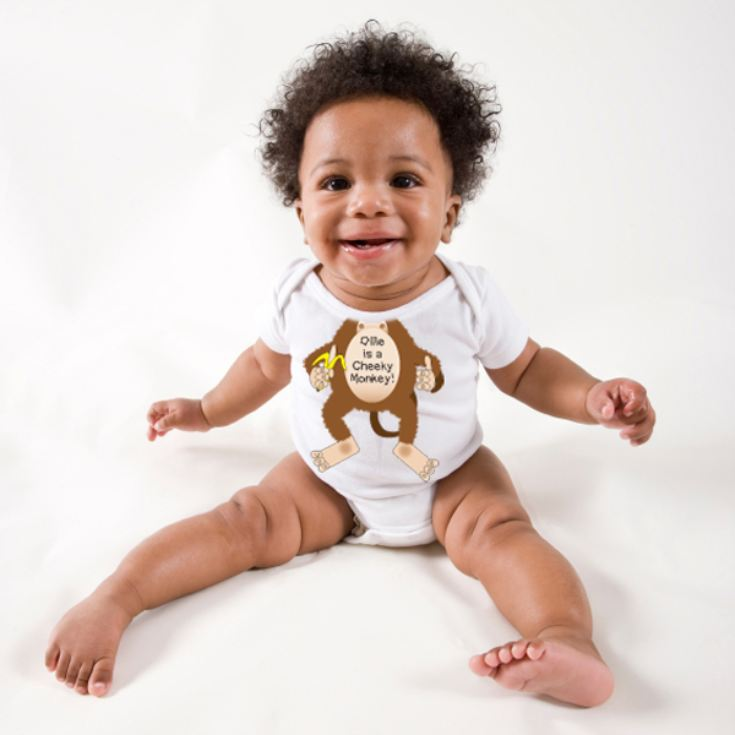 Personalised Cheeky Monkey Baby Grow product image