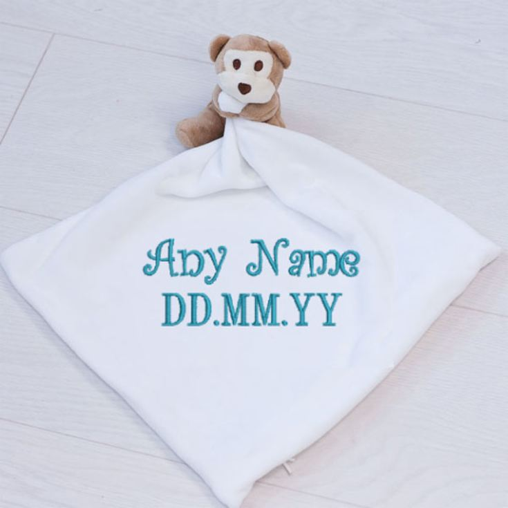 Personalised Embroidered Monkey Comforter product image