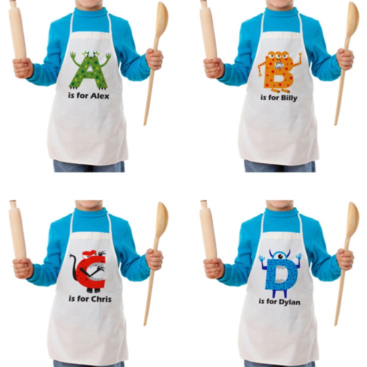Personalised Children's Alphabet Monster Apron product image