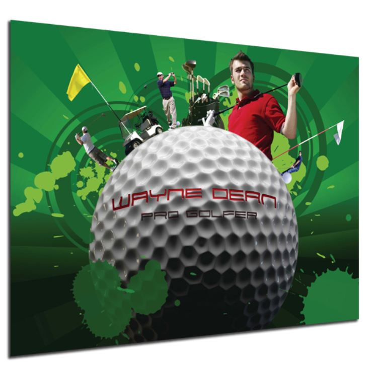 Personalised Golf Montage Poster product image