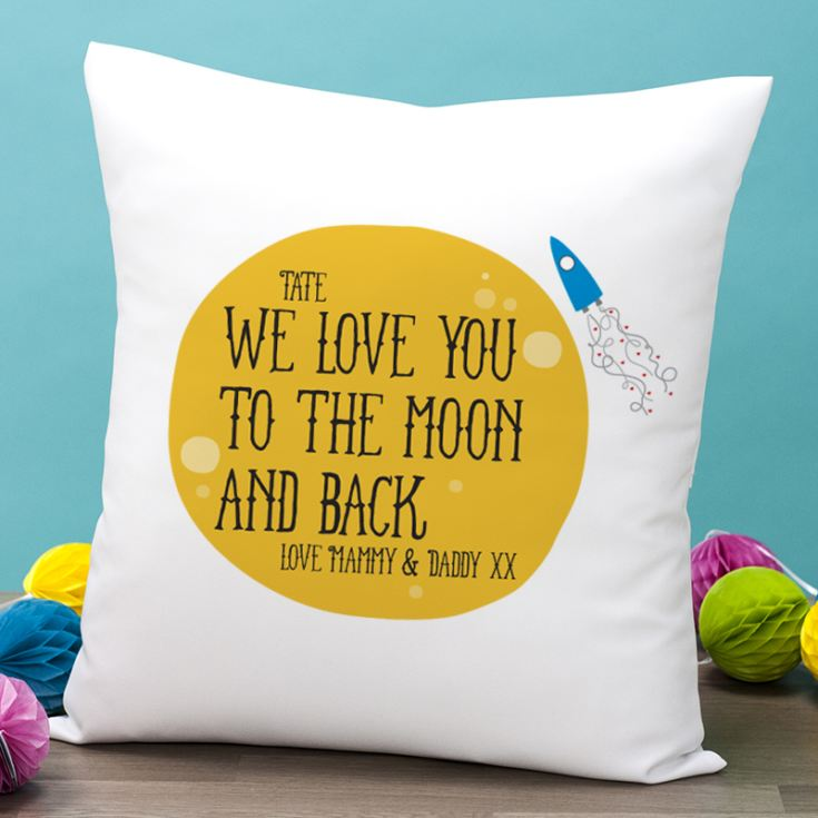 Personalised Moon and Back Cushion product image