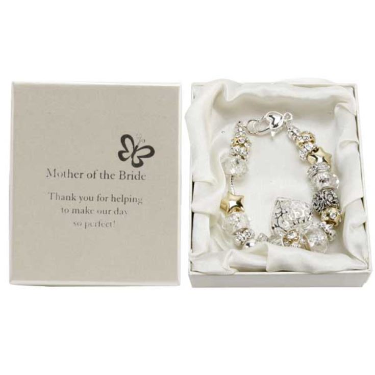 Mother of the Bride Amore Silver/Gold Bead Charm Bracelet product image