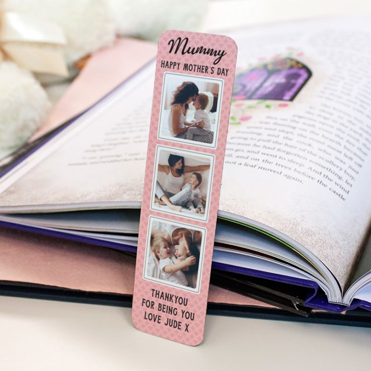 Personalised Happy Mother's Day Multi Photo Upload Bookmark product image