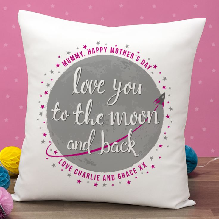 Personalised Mother's Day Moon And Back Cushion product image