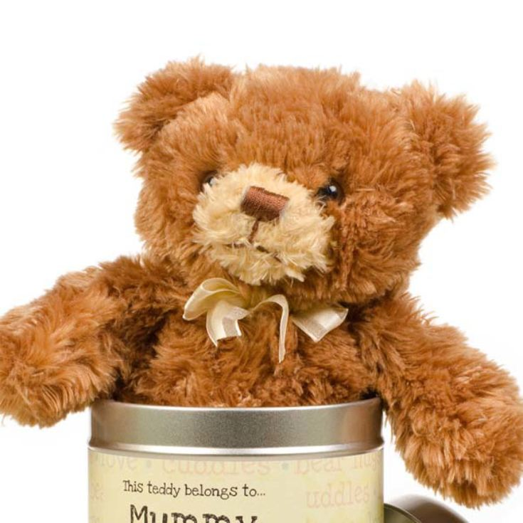 Personalised Mother's Day Teddy in a Tin with words product image