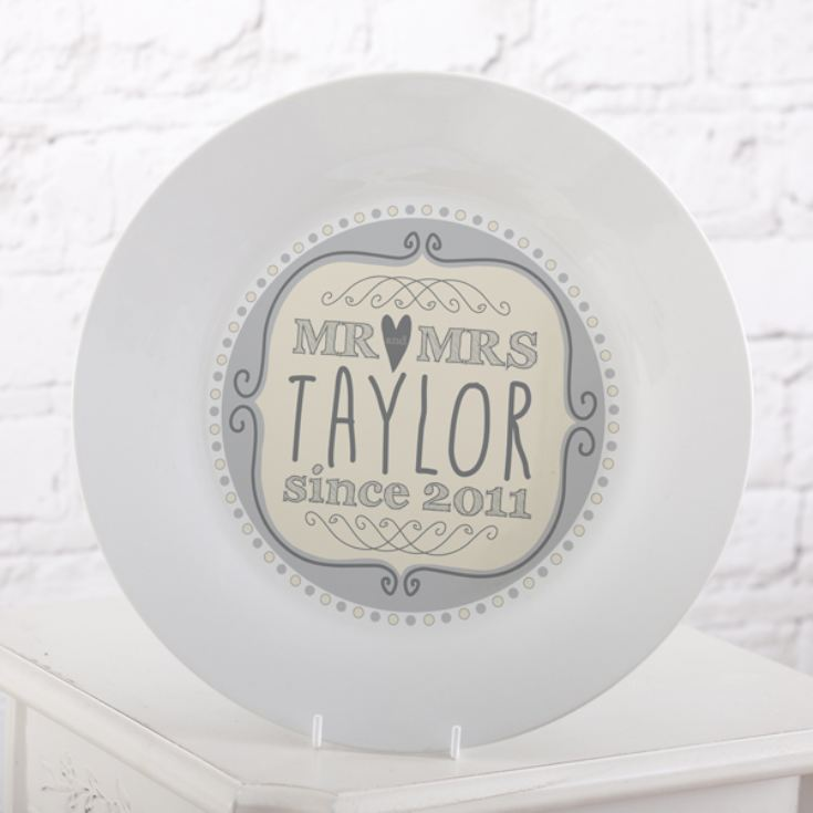 Personalised Mr & Mrs Since Plate product image