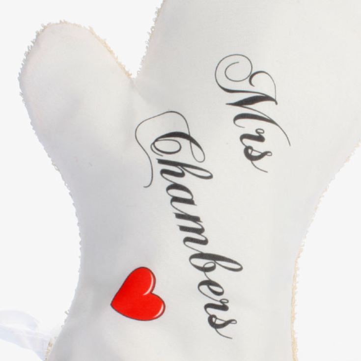 Personalised Mr & Mrs Oven Mitts product image