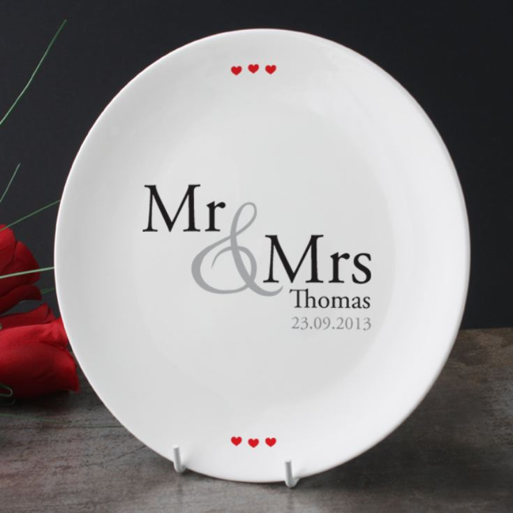 Personalised Mr & Mrs Plate product image