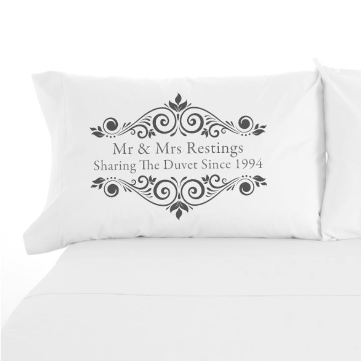 Personalised Sharing The Duvet Since Pair of Pillowcases product image