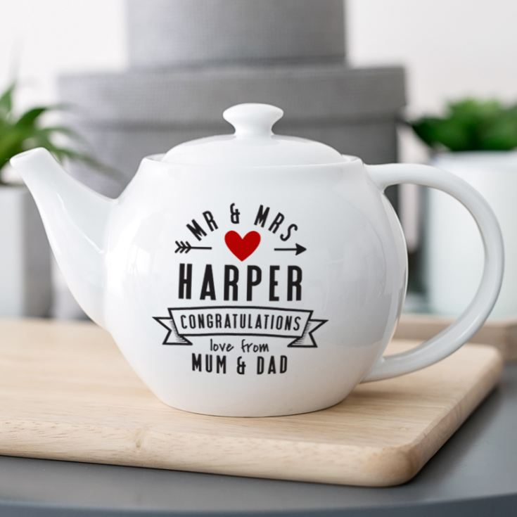 Mr & Mrs Personalised Teapot product image