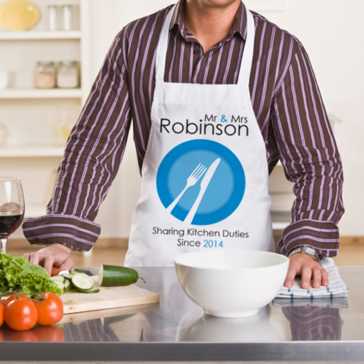 Sharing Kitchen Duties Since Personalised Pair of Aprons product image