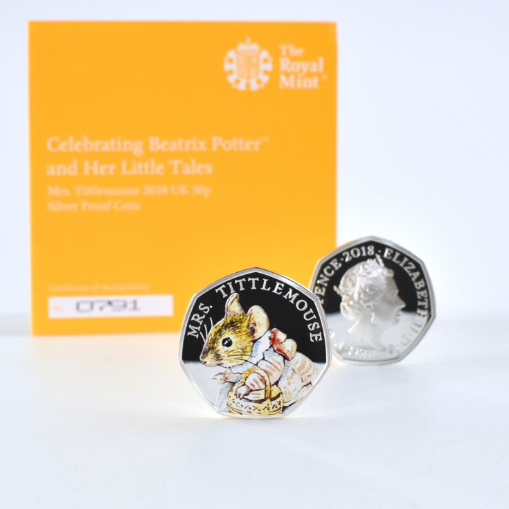 Mrs Tittlemouse Royal Mint Silver Proof Coin & Book Set product image