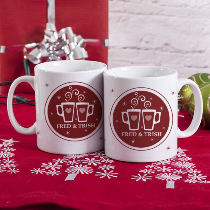 Personalised Enjoying Mulled Wine Together Mugs product image