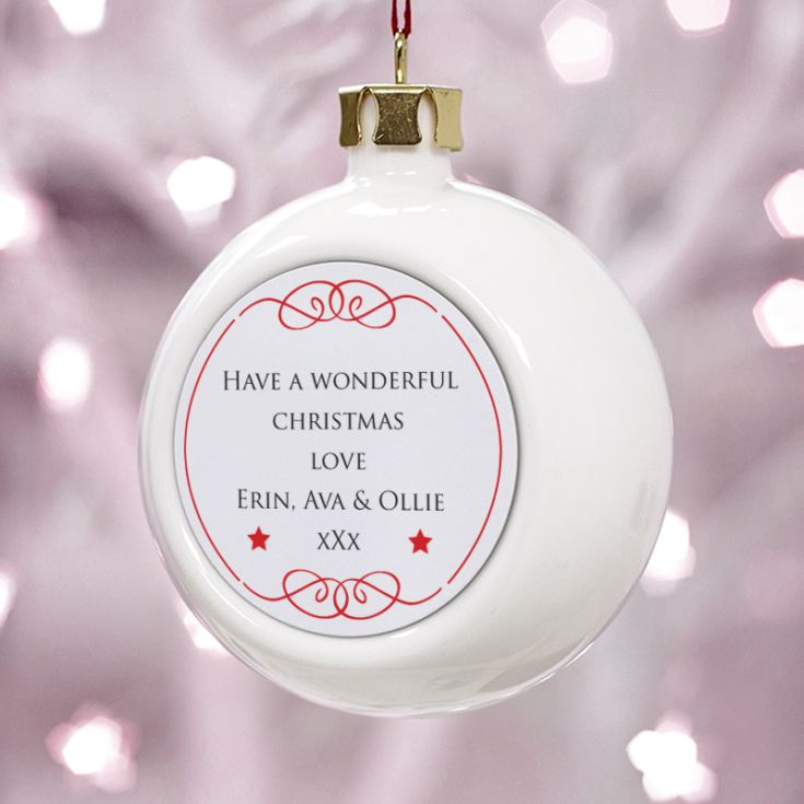 Personalised Mum Christmas Bauble product image