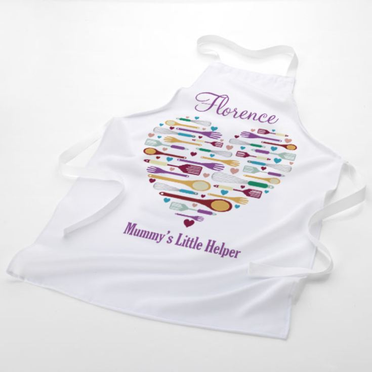 Personalised Heart Style Mummy's Helper Children's Apron product image