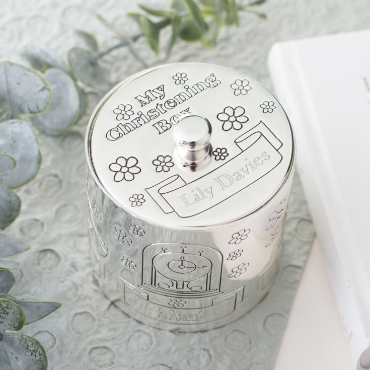 Engraved Silver Plated My Christening Box product image