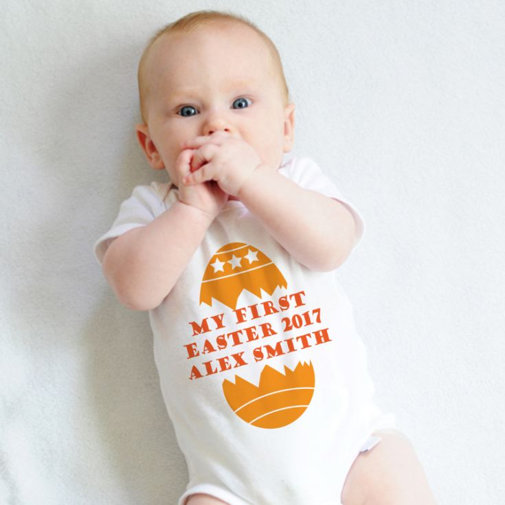 My First Easter Personalised Baby Grow product image