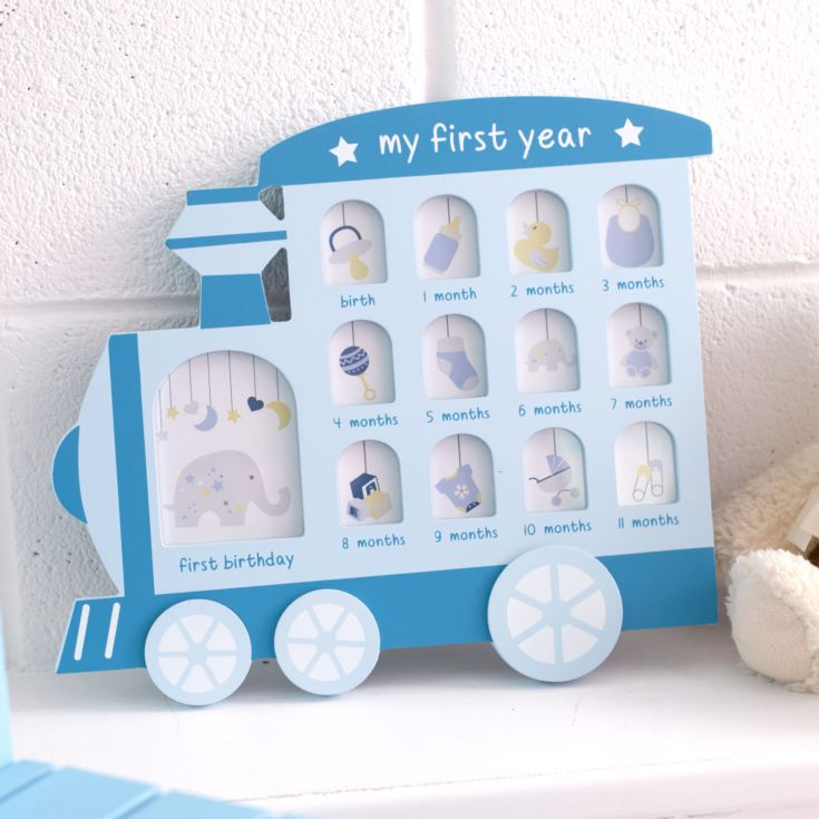 My First Year Train Engine Collage Photo Frame product image