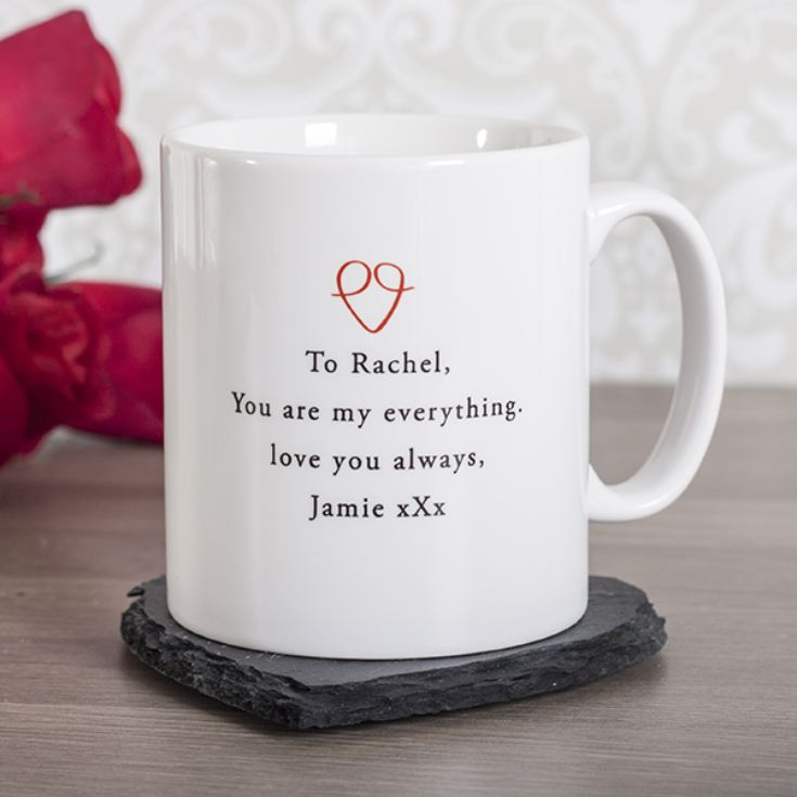 Personalised My Heart Is Perfect Mug product image