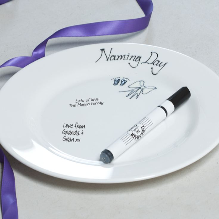 Naming Day Signature Plate product image