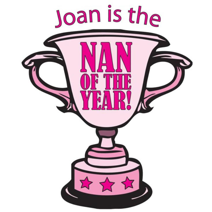 Nan of the Year Personalised Apron product image