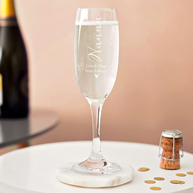 Personalised Grandma Prosecco Glass product image