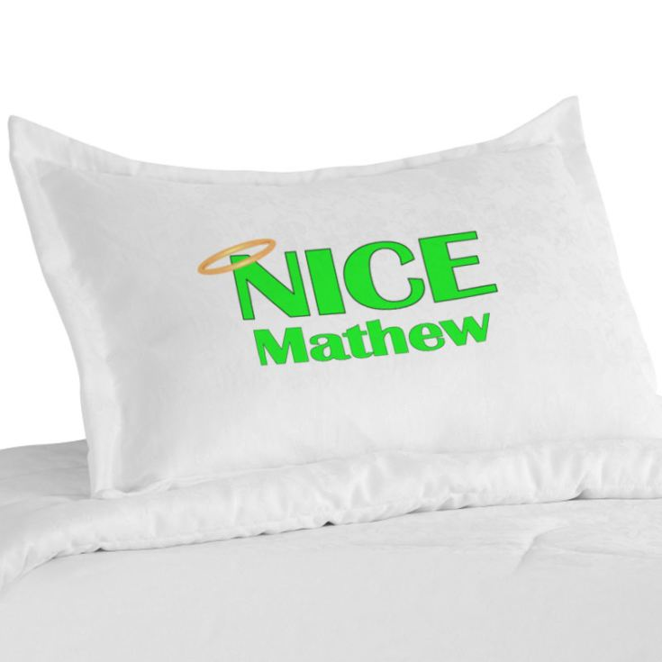Valentines Day Personalised Naughty & Nice Pillowcases product image