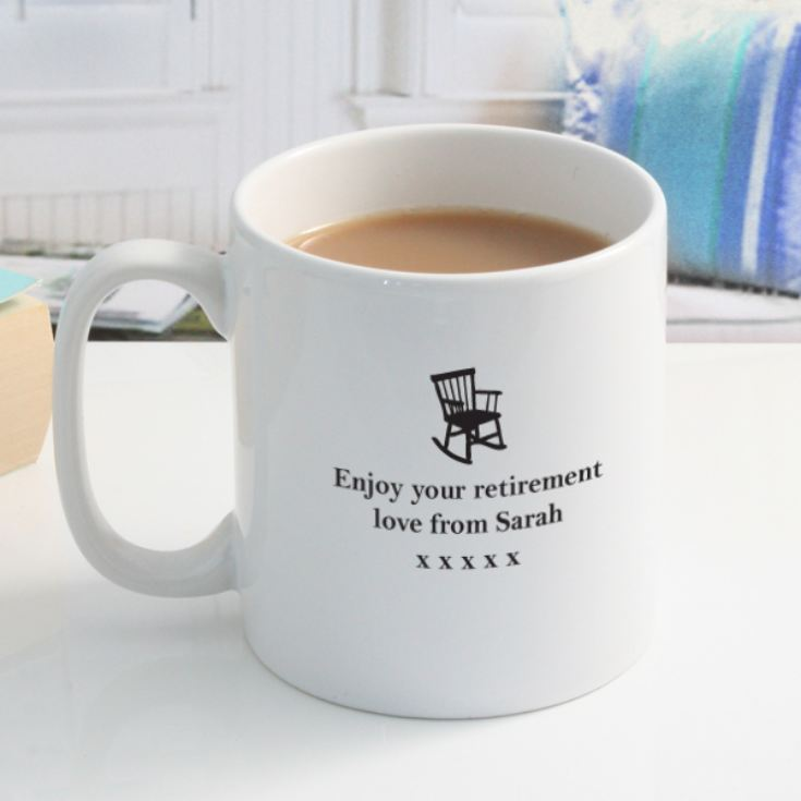Personalised Never Too Old To Rock Retirement Mug product image