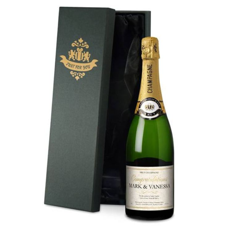 Personalised New Baby Champagne product image