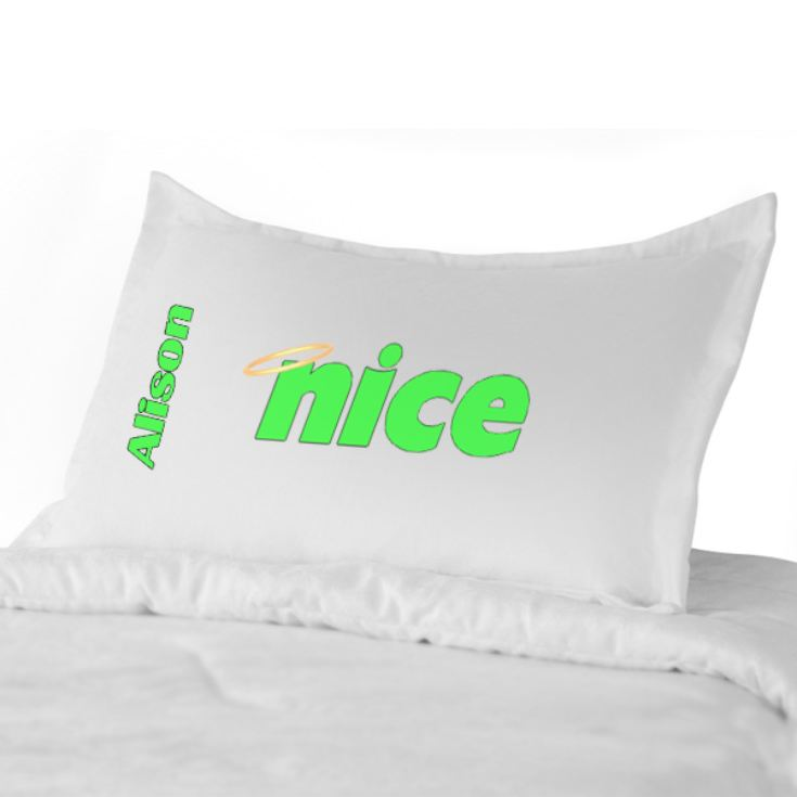 Personalised Reversible Naughty & Nice Pillowcases product image