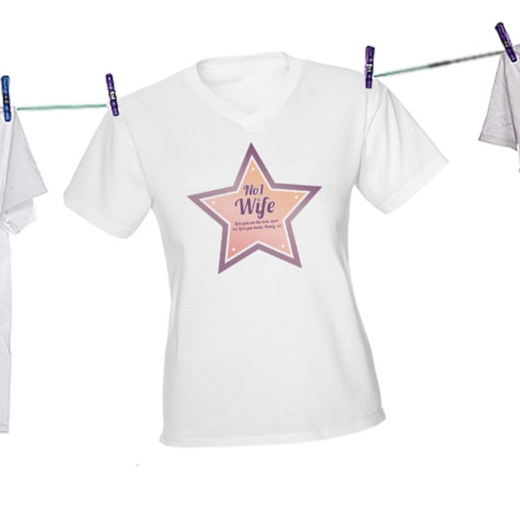 Personalised Number 1 Wife T-Shirt product image