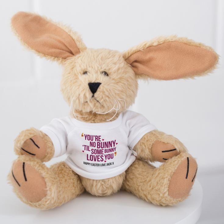 Personalised You're No Bunny 'Til Some Bunny Loves You Cuddly Rabbit product image