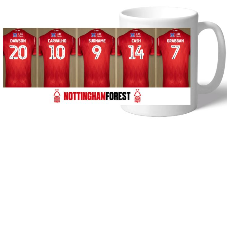 Personalised Nottingham Forest Dressing Room Mug product image