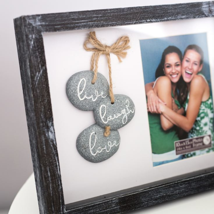 Live Love Laugh Pebble Photo Frame product image