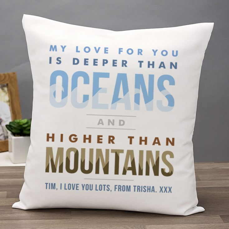 Personalised Oceans And Mountains Cushion product image