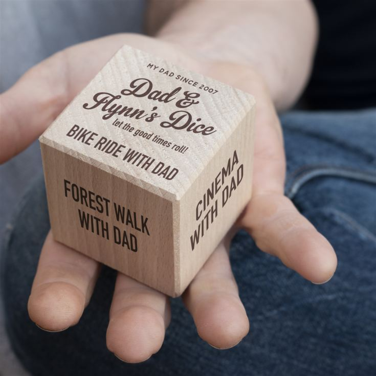Personalised Wooden Dad Activity Dice product image