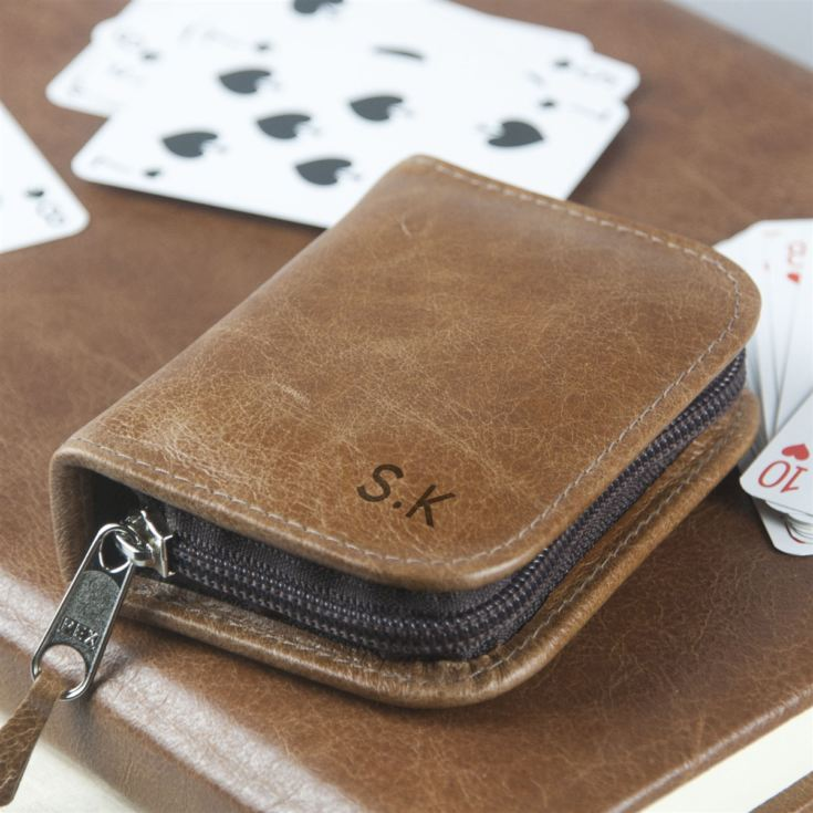 Personalised Leather Playing Card Case product image