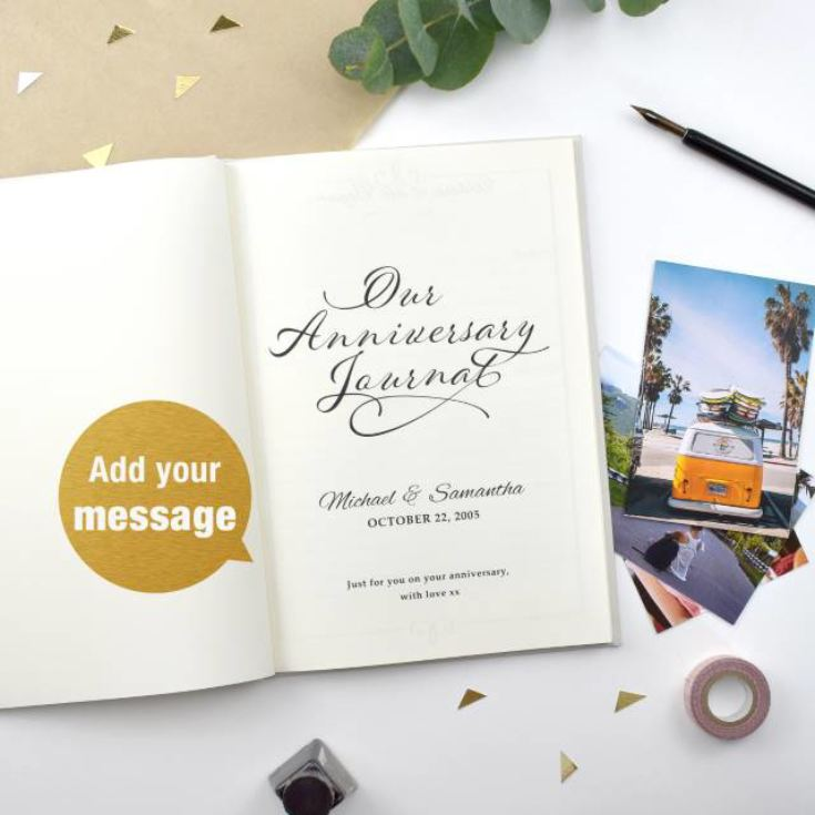 Our Anniversary Personalised Journal product image
