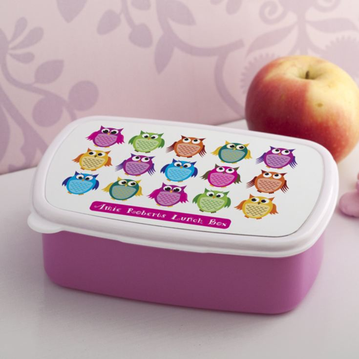 Personalised Owls Lunch Box product image
