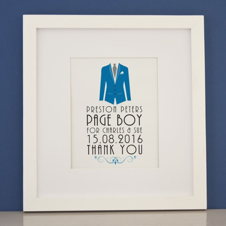 Personalised Page Boy Framed Print product image