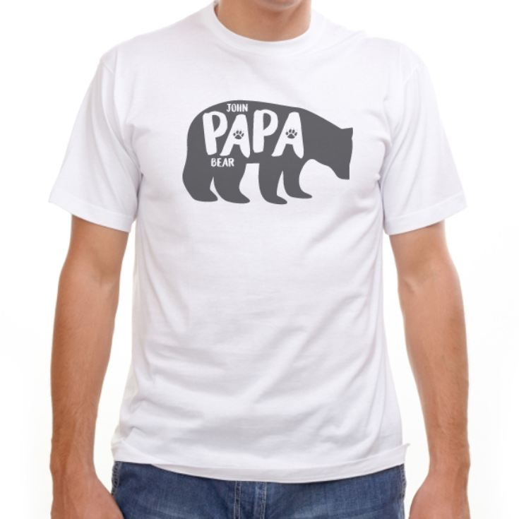 Personalised Papa & Baby Bear T-Shirt And Baby Grow Set product image