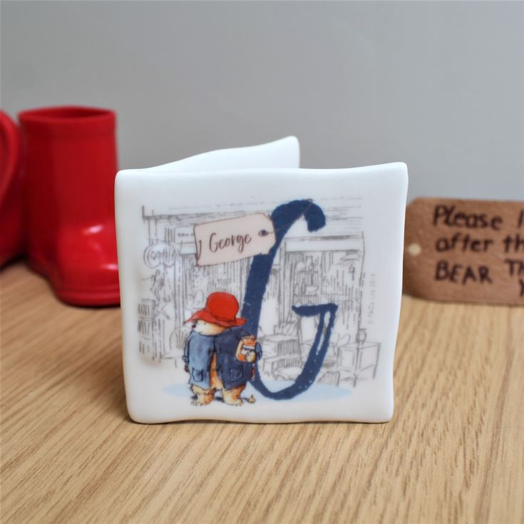 Personalised Paddington Bear Initial Message Card product image