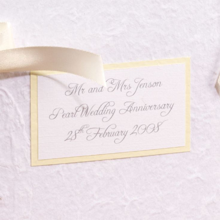 Gifts For A Pearl Wedding Anniversary: Personalised Pearl Wedding Anniversary Photo Album